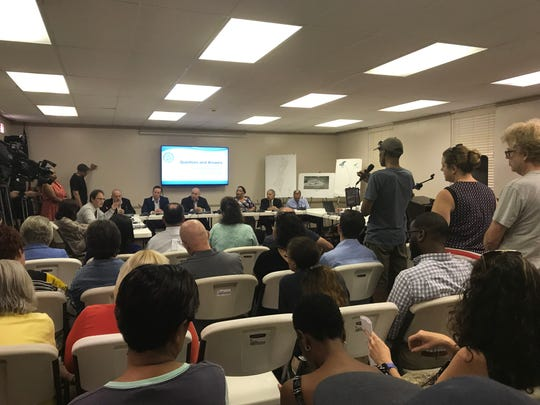 Bloomfield residents were able to ask the mayor and council questions about the lead in the township's water during a forum on Aug. 19, 2019.