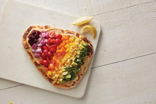 Sabra Rainbow Veggie Flatbread