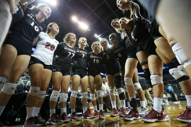 The New Mexico State volleyball team has been named as the preseason WAC favorite.