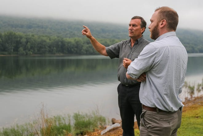 Adrian Hedden interviews Thomas Murphy in Williamsport, Pennsylvania on Monday Aug. 19, 2019. The Carlsbad-Current Argus won second place for the USA TODAY Network's quarterly reporting awards for the project on waste water in the oil and gas industry.