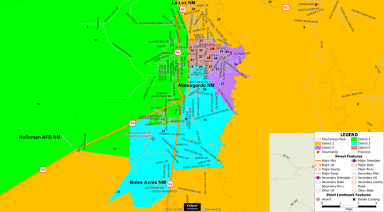 Alamogordo Public Schools District Map
