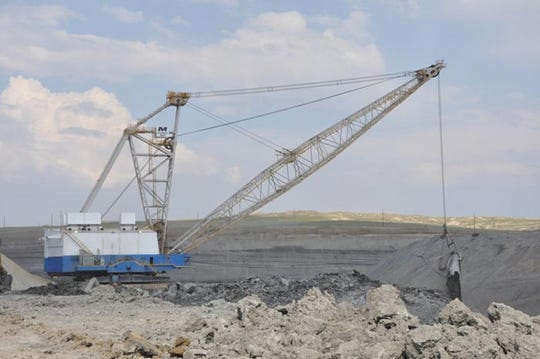 A dragline operates at the Antelope Mine, located approximately 60 miles south of Gillette, Wyoming.