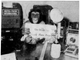 "In this archival photo from the July 7, 1970 edition of The Desert Sun, Cobbie looks a final newspaper proof before deadline. Cobbie had ""recently joined the staff while on loan from the Palm Springs Aerial Tramway Circus Animal Land Company. The five-year-old chimp was one of about 120 animals who could be seen at Circus Animal Land in 1970."""