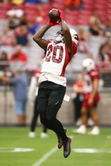 Tramaine Brock (20) and the rest of the Arizona Cardinals cornerbacks are going to have to step up in Patrick Peterson and. Robert Alford's absence.