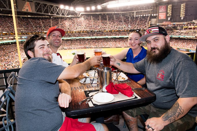 The D-Backs Bar Crawl will take participants to different parts of the ballpark.