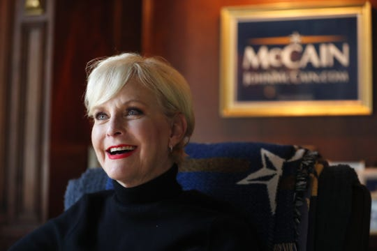 Cindy McCain talks about her husband, Sen. John McCain, almost a year after his death from her home in Phoenix on Aug. 19, 2019.