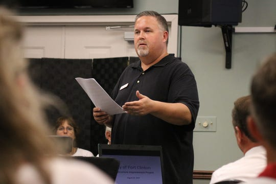 Port Clinton Mayor Mike Snider hosted a community meeting to discuss the infrastructure plan on Monday.