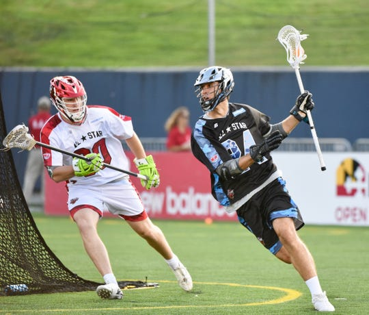 Brendan Sunday, an Arlington High School grad, played in the Major League Lacrosse All-Star game on July 27 and scored the winning goal in overtime.
