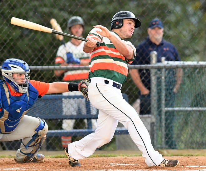 Ross Drawbaugh, seen here in a file photo, had three hits on Sunday in Jefferson's Central League playoff win over Mechanicsburg.