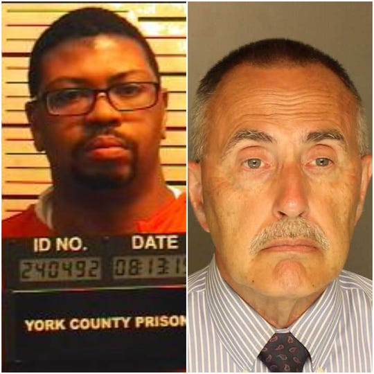 Franklin Baushard Merritt, 34, of the 200 block of South Pine Street, York, (left) and Robert Leroy Jacobs Jr., 72, of the 800 block of South Lake Road, Jackson Township, face charges in connection with allegedly having sexual contact with a 13-year-old Dover Township boy, according to charging documents.