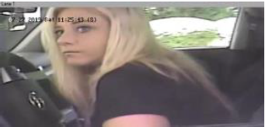 Northern York County Regional Police are looking for this woman in an attempt to pass stolen checks.