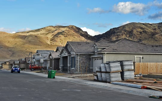 Housing is under construction in the area of  Veterans Pkwy and Carat Ave. in Reno, Nevada on Jan. 22, 2018.