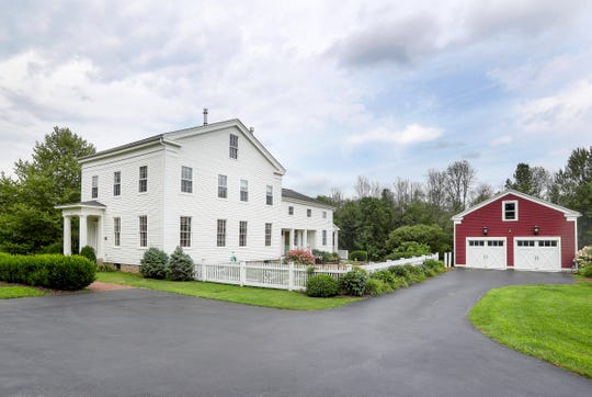 This Greek Revival home was moved from Henrietta to Mendon in five pieces.