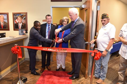 US Sen. John Cornyn joined local dignitaries and veterans at the grand opening of the  Veterans Administration Community Based Outpatient Clinic at 4240 Southwest Blvd., in San Angelo on Tuesday, Aug. 20, 2019, where he delivered keynote remarks, and spoke with patients about the VA, and their concerns.