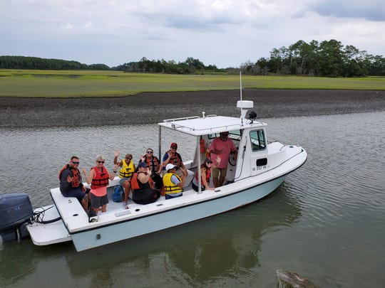 Accomack County Public Schools' new teachers went on a boat tour given by The Nature Conservancy as part of their orientation.