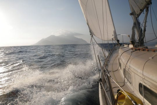 A view from the sailboat Neverland, taken on a 2011 trip in the Mediterranean Sea.
