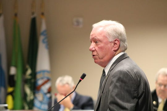 Ocean City Mayor Rick Meehan speaks to the Worcester County Commissioners at its Aug. 20 meeting in Snow Hill. The commissioners approved a 0.5% increase to the hotel rental tax, which Ocean City leaders supported.