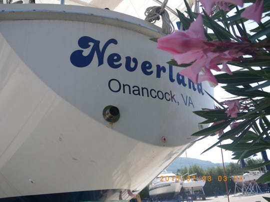 Michael and Monica Gould of Onancock, Virginia will set sail this autumn on a trans-Atlantic voyage in their 36-foot sailboat, Neverland.