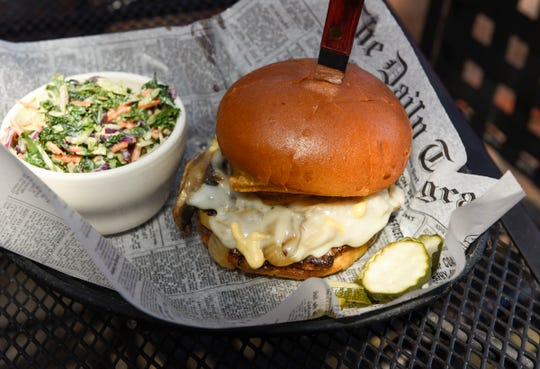 Billy's Crunch Burger is a signature item at the Red Goat Bar & Grill Friday, Aug. 16, 2019. Voters elected the Watkins restaurant as the 2019 Best Overall Restaurant in the Best of Central Minnesota Readers' Survey.