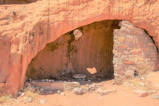 Shed at Gold Butte National Monument after it's been cleaned up.
