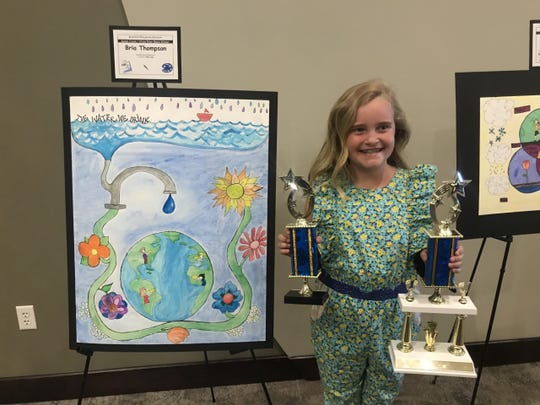 Bria Thompson, a student at Red Mountain Elementary School, was recognized this year at the Water Education Awards for her poster entry into the Young Artists Water Education Poster Contest sponsored by the Utah Division of Water Resources.