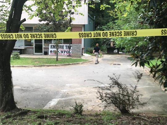 A dead gunshot victim was found in a wooded area behind the Tallahassee Auto Clinic on South Monroe Street Tuesday morning.