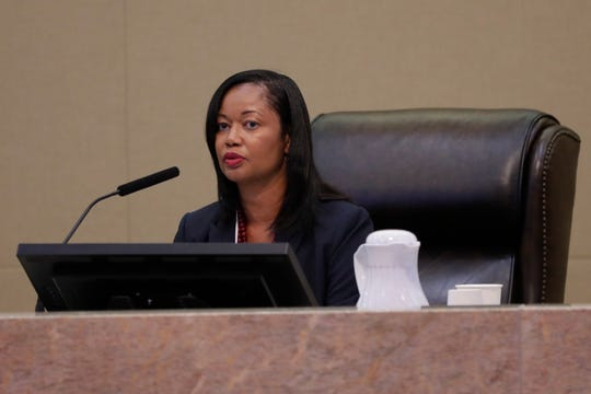 City Attorney Cassandra Jackson goes over the terms of the agreement made with Fairmont, which will allow the construction to begin again after the city agreed to the terms.