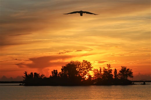 Pablo Gonzalez photographed a beautiful sunrise over the Indian River Lagoon near Sebastian.