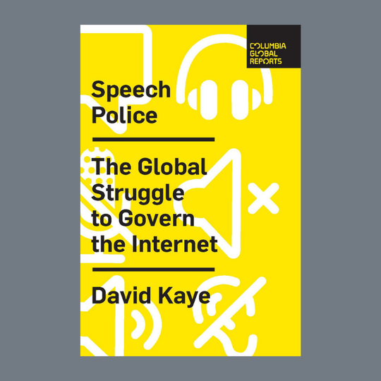 David Kaye's new book looks at therolecompanies are playing and the waygovernments are pullingbackto recapture control of what they often see as public space.