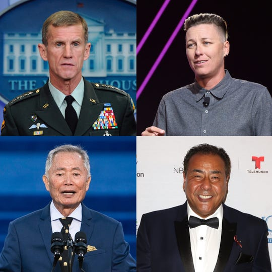 Retired Gen. Stanley McCrystal, soccer star Abby Wambach, actor George Takei and journalist John Quiñones will lead a new Playhouse speaker series in Wilmington