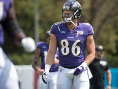 Catch up with University of Delaware grad who is leader of the 'pack' for the Ravens TEs