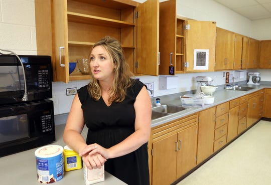 Alaina Tharp, family and consumer sciences teacher at Tri-Valley High School, won OATFACS Teacher of the Year Award.