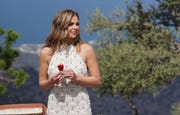 """Hannah Brown in the season finale of """"The Bachelorette."""""""