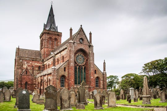 St Magnus Cathedral in Kirkwall, Orkney Islands.