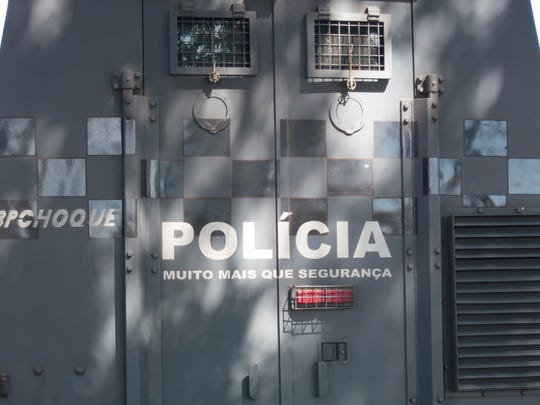 An armed man held people hostage on a bus near Rio de Janeiro, police said.