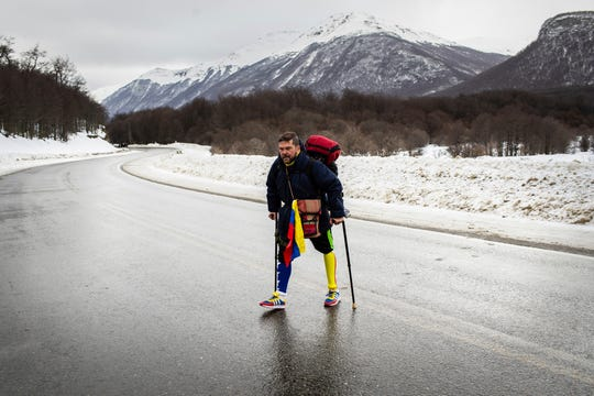 A father and daughter each lost a leg. Now he's walking across South America to inspire hope