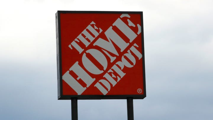 A sign at the Home Depot store in Manchester, N.H., Thursday, Aug. 15, 2019.