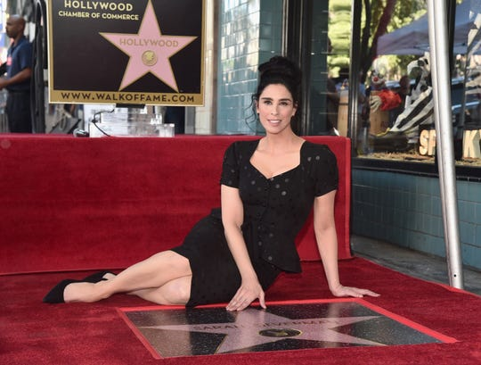 Sarah Silverman is honored with a star on the Hollywood Walk of Fame on Nov. 9, 2018 in Hollywood, California.