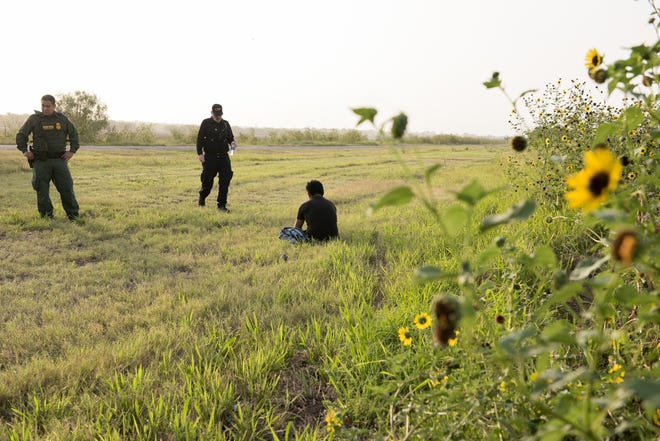 An unaccompanied minor from Guatemala is detained by Border Patrol agents along the Rio Grande Valley Sector on June 25, 2019. The minor traveled with a group but became lost once they crossed into the United States illegally.