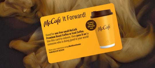 McDonald's is kicking off a three-day pay-it-forward event Aug. 21.