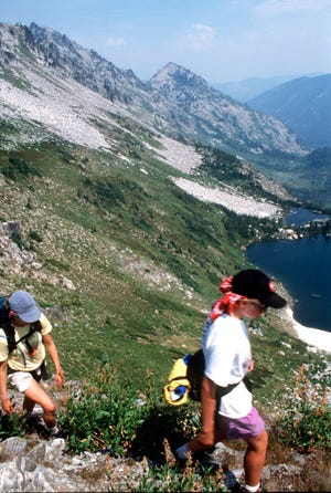 Kaden Laga went missing while hiking the mountainous Selway-Bitterroot Wilderness area (pictured here in 2000) on the border of Montana and Idaho.