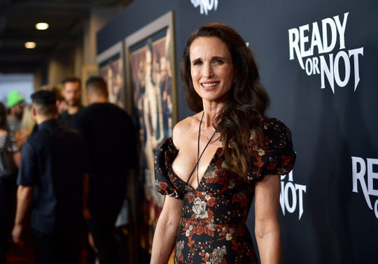 "Andie MacDowell attends the Los Angeles screening of ""Ready Or Not"" on Aug. 19, 2019."