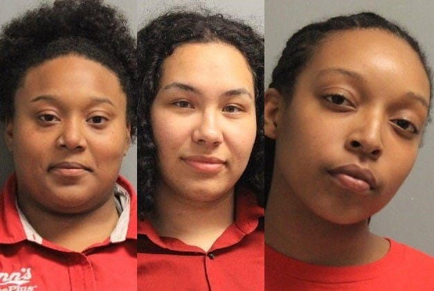 (From left) Narissa Nichole Francis, Emily Renee Johnson and Alexis Chantel Wright