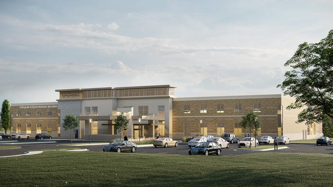 A rendering of the future Orthopedic Surgery Center of the Fox Valley in Fox Crossing