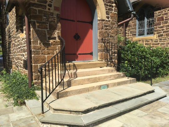 The entrance to All Saints Memorial Church is not wheelchair accessible.