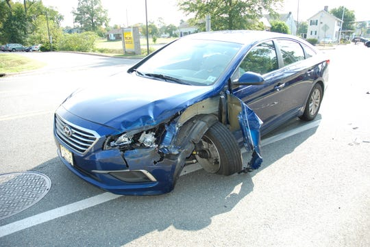 A 2017 Hyundai Sonata was heavily damaged in a crash that killed the driver of the vehicle.