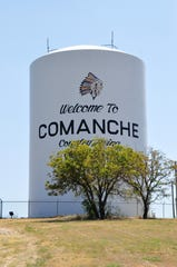 A major water line break on Monday, Aug. 19, 2019, dropped the water level in the Comanche water tower from its average of 50 feet to 19 feet.