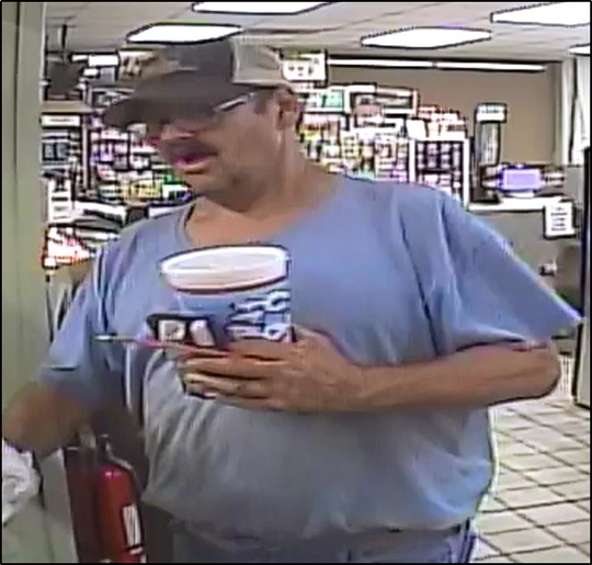 Police have asked the public to assist in locating the driver of a white GMC Sierra pickup truck who was featured in surveillance footage. He is not a suspect, APD said.