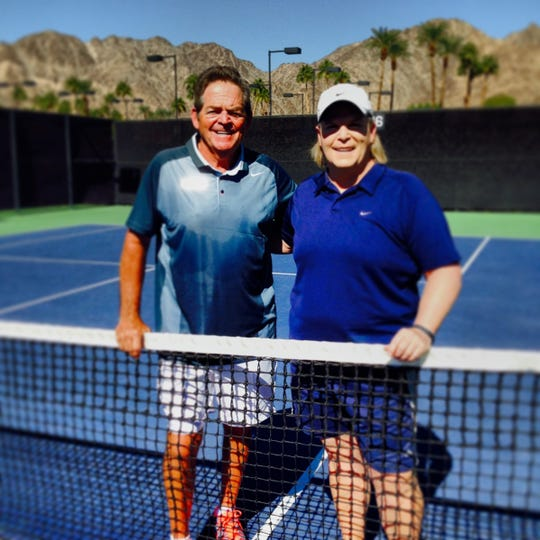 Tom Gorman and Jennifer Shorr at Indian Wells in Palm Spring, California.