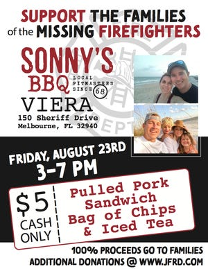 Sonny's BBQ fundraiser for missing firefighters